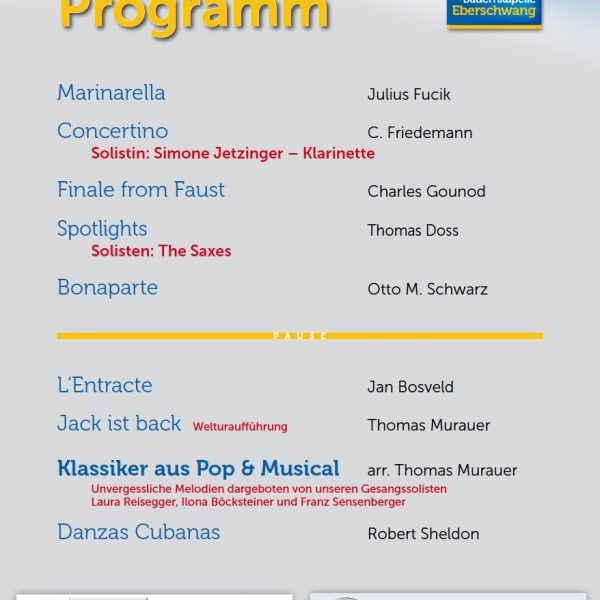 Das Programm zum Wunschkonzert