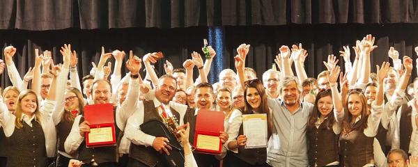 Mit 96,3 Punkten Sieg und Sonderpreis für die Bauernkapelle Eberschwang